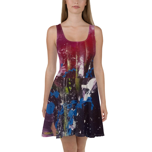 AMALGAMATION SKATER DRESS