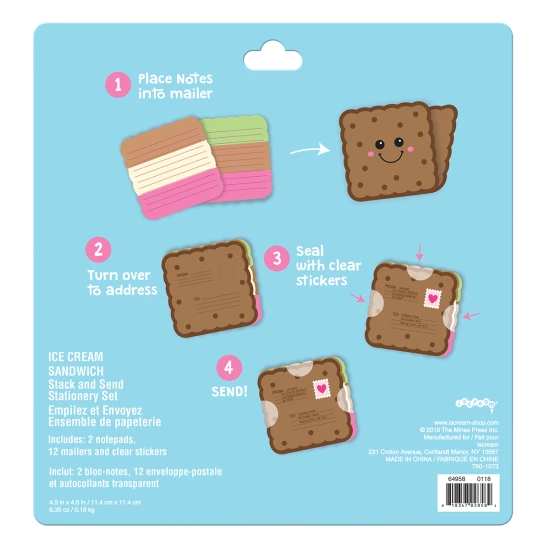 Ice Cream Sandwich Stack & Send Stationery