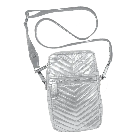 Silver Chevron Cell Bag