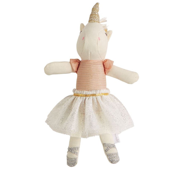 PINK PLUSH TUTU UNICORN RATTLE