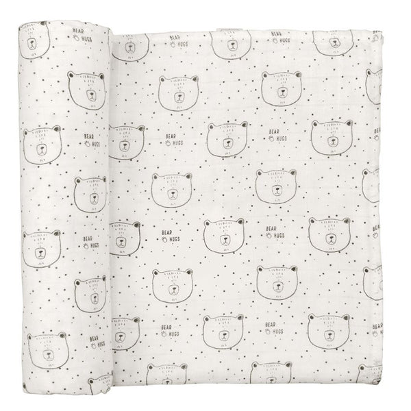 BEAR HUGS MUSLIN SWADDLE