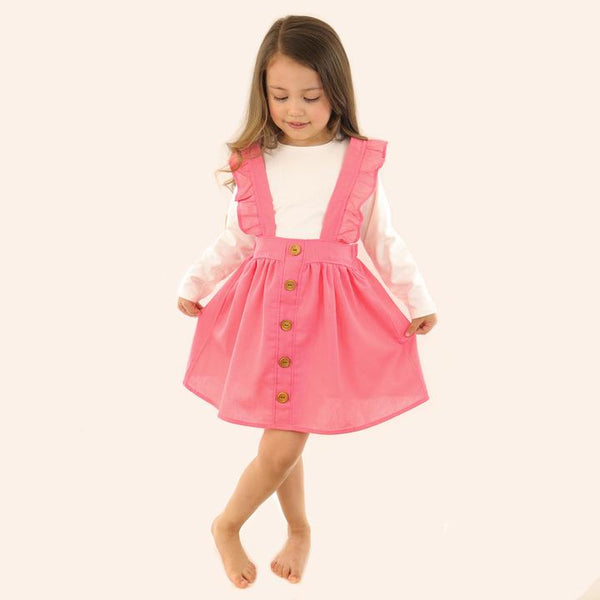Pink jumper and blouse set