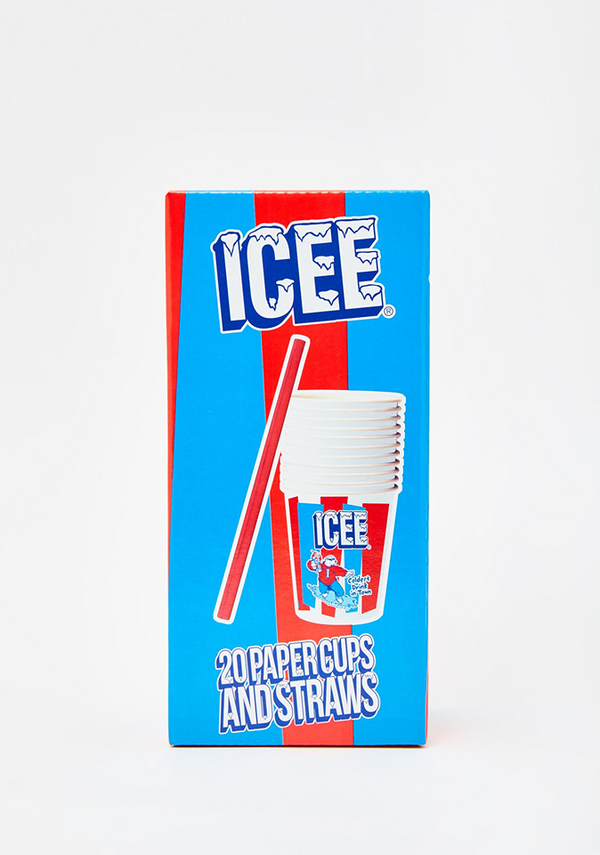 Icee Paper Cups and Straws
