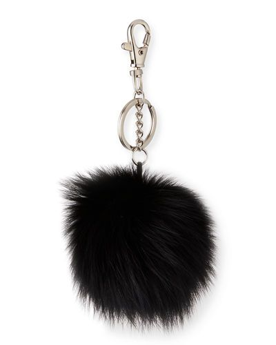 ASSORTMENT OF FUR BALL KEY CHAINS