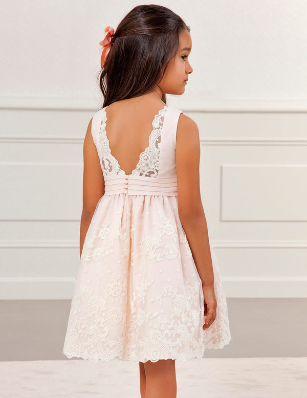 DRESS WITH EMBROIDERED ORGANZA