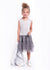 Girls Sleeveless Grey & Silver Sweater Dress