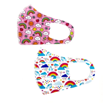 Youth Rainbow Assorted Spandex Mask