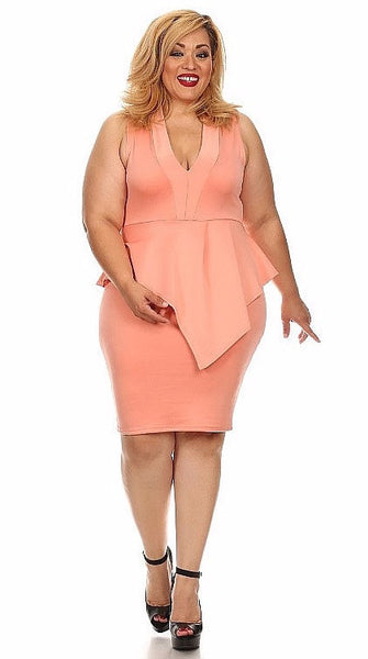 Sexy Diva Plus 1580SS Peach (6 Colors/1X-3X)