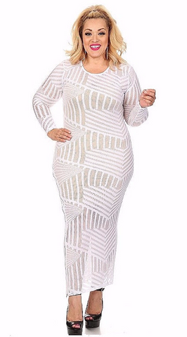 Sexy Diva Plus 1656 White (2 Colors/1X-3X)