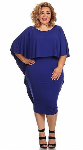 Sexy Diva Plus 1785SO Royal Blue (5 Colors/1X-3X)