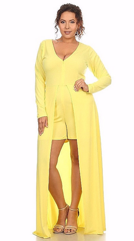 Sexy Diva Plus 1833SO Dark Yellow/Light Yellow (5 Colors/1X-3X)