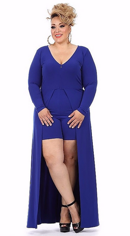 Sexy Diva Plus 1833SO Royal Blue (5 Colors/1X-3X)