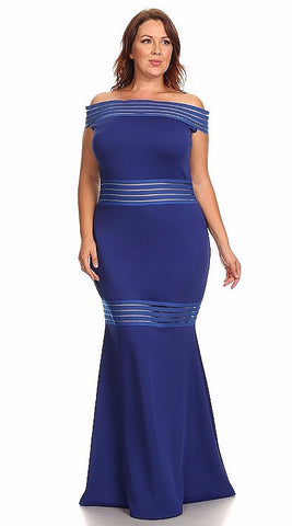 Sexy Diva Plus 1929 Royal Blue (6 Colors/1X-3X)