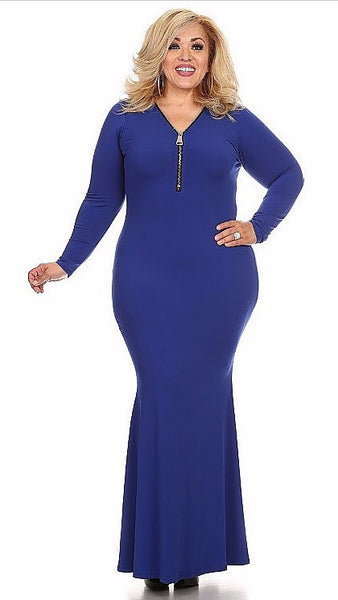 Sexy Diva Plus 1947SO Royal Blue (4 Colors/1X-3X)
