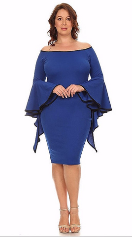 Sexy Diva Plus 2017 Royal Blue (5 Colors/1X-3X)