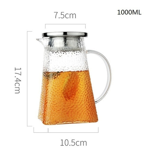 PEBBLE FROSTED GLASS PITCHER