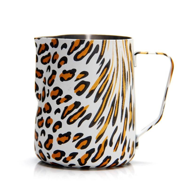 LEOPARD FROTHING PITCHER
