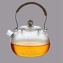 Load image into Gallery viewer, TWINE HANDLE GLASS TEAPOT