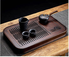 Load image into Gallery viewer, NATURAL BAMBOO TEA TRAY