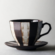 Load image into Gallery viewer, ESPRESSO BEAN STRIPE TEACUP