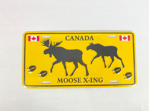 License Plate - Moose X-ing