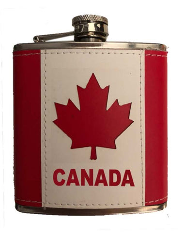 Flask-Canada Flag 7 oz