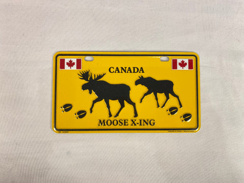 "License Plate - Canada Moose X-ing 8"" x 4"""