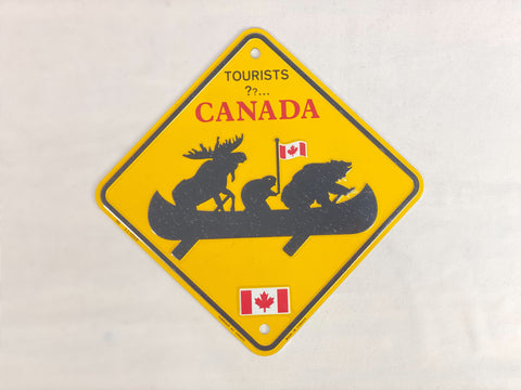 "License Plate - Canada Animals Canoeing 6"" x 6"""