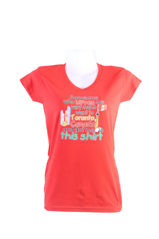 T-shirt Ladies V-Neck someone who loves