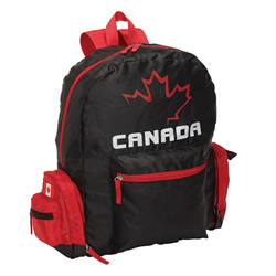 Foldable Bag - Back Pack With Canada Flag