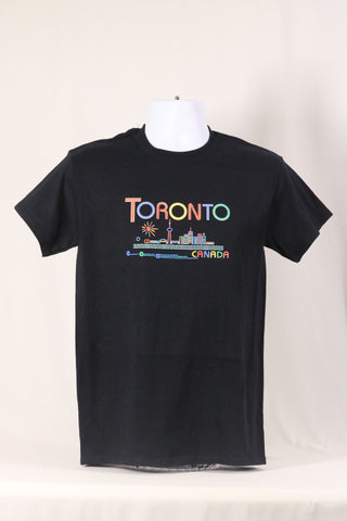 T-shirt-Toronto Colourful skyline