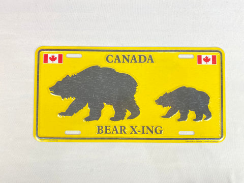"License Plate - Bear X-ing 12"" x 6"""