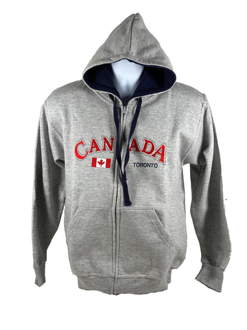 Canada/Toronto Embroidered Full Zip Sweater