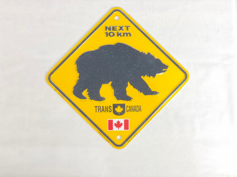 "License Plate - Bear Next 10 KM Trans Canada 6"" x 6"""