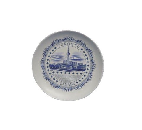 Toronto History Bisque Plate - 7""