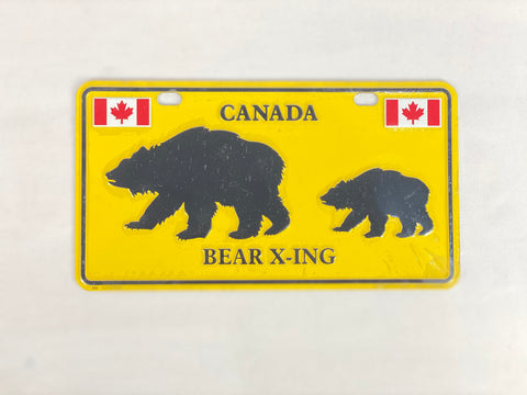 "License Plate - Canada Bear X-ing 8"" x 4"""