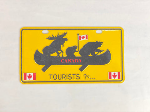 "License Plate - Canada Animals Canoeing 8"" x 4"""