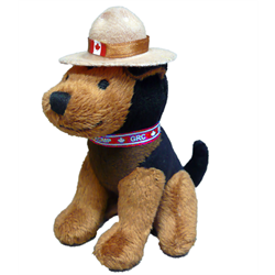 Keychain-Plush RCMP GERMAN SHEPHERD 5""