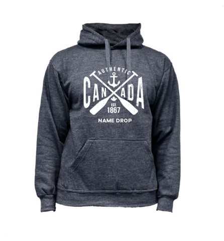 Canada Hoodie In Charcoal Heather - Paddles
