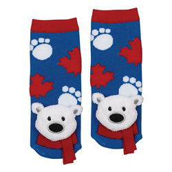 Socks - Polar Bear Plush