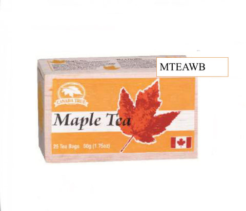Maple Tea-Wood Box 25 TeaBags