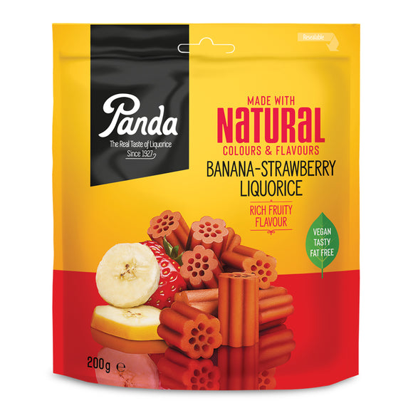 Panda Liquorice - Banana & Strawberry Cuts