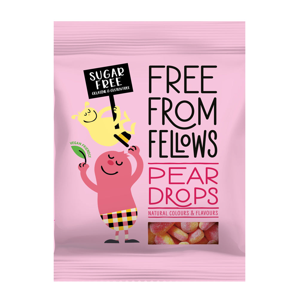 Free From Fellows - Pear Drops Hard Boiled Sweets - 70g