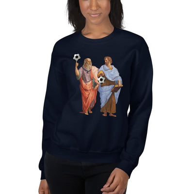 Aristotle and Plato with Soccer Balls <br><br>Sweatshirt