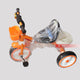 3 Wheel Orange/White Saddle Sport Tricycle for Kids - 3 to 5 Years