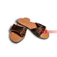 Animal Print Design Leather Women's craft sandals