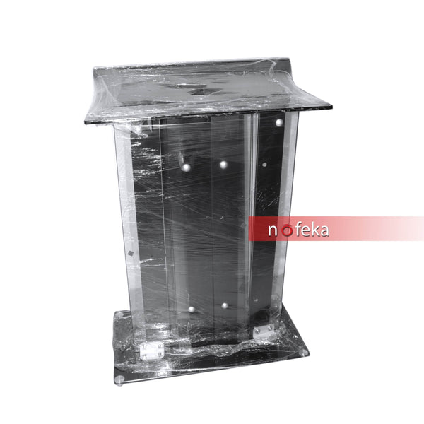 Nofeka Uganda Office Carts and Stands Black Acrylic Lectern Podium