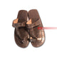 Black Handmade Leather Men's Flat Sandals