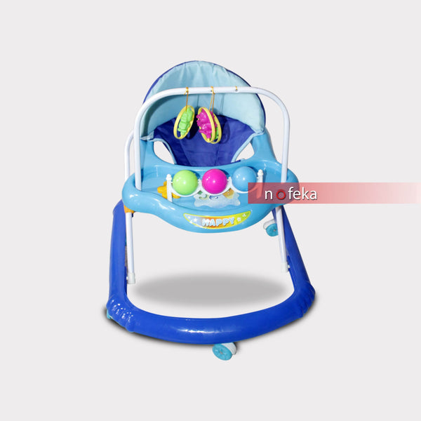 Nofeka Uganda Baby Walkers Blue Baby Play Walker with Activity Tray for Kids