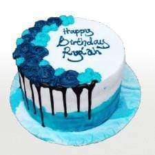 Nofeka Cakes Blue drip (2 days notice Period)